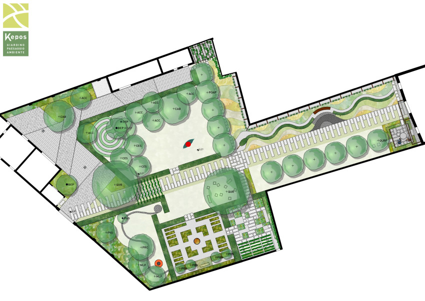 Kepos planimetria giardino dei giardini for Progetti di giardini