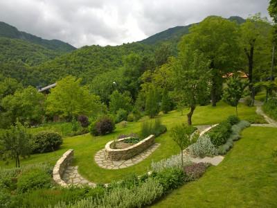 Vista dall'abitazione dell'Orto Giardino