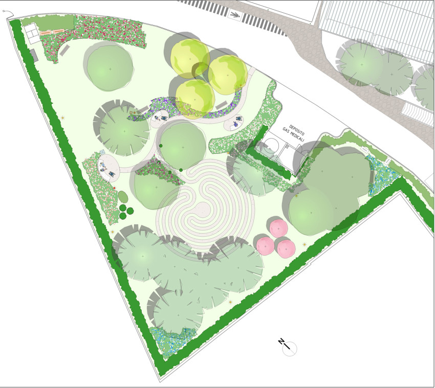 Il giardino del labirinto kepos giardino paesaggio for Planimetria giardino
